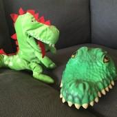Crocodile hat, dinosaur puppet 160616