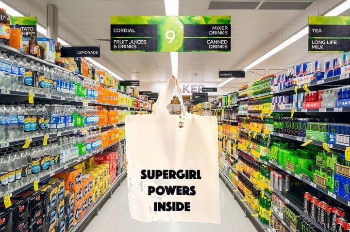 Being Supergirl at the supermarket